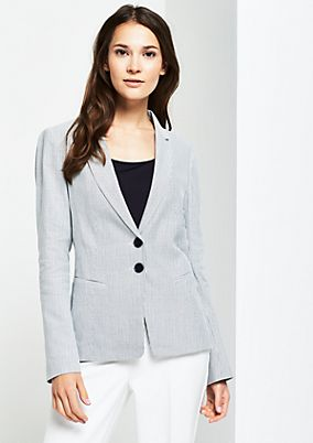Businessblazer mit feinem Pin Stripe-Muster