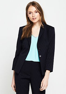 3/4-Arm Businessblazer mit Jacquardmuster
