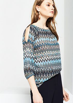 Knitted jumper with a colourful pattern from s.Oliver