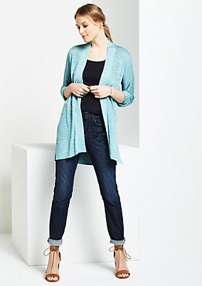 Long cardigan with a decorative colour texture from s.Oliver