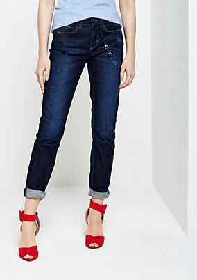 Jeans with glittering sequin trim from comma