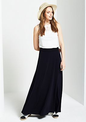 Summery maxi skirt with lace decorations from s.Oliver