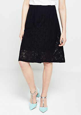 Elegant business skirt made from delicate lace from s.Oliver