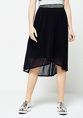 Delicate mesh skirt with decorative pleats from s.Oliver