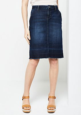 Vintage-look denim skirt from s.Oliver