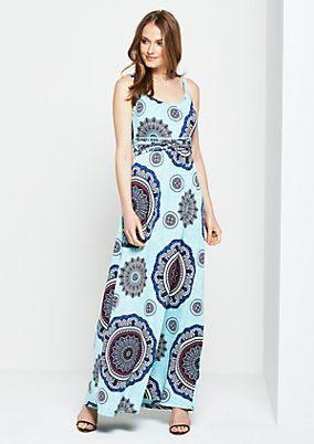 Lightweight maxi dress with a mixed pattern from s.Oliver