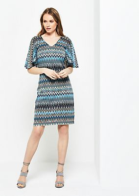 Knitted dress with a colourful pattern from s.Oliver
