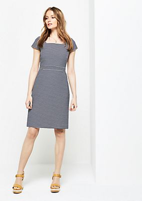 Sheath dress with a fine striped pattern from s.Oliver