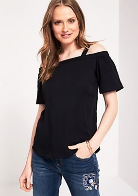 Off-the-shoulder blouse with short sleeves from s.Oliver