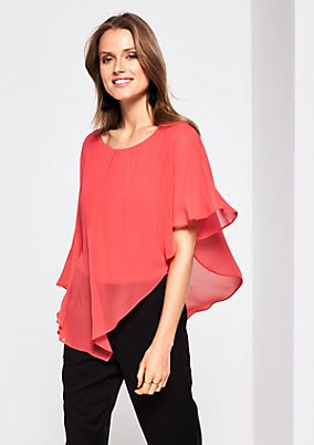 Extravagant crêpe blouse in a batwing style from s.Oliver
