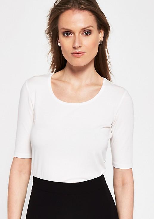 Legeres Jerseyshirt mit kurzem Ärmeln