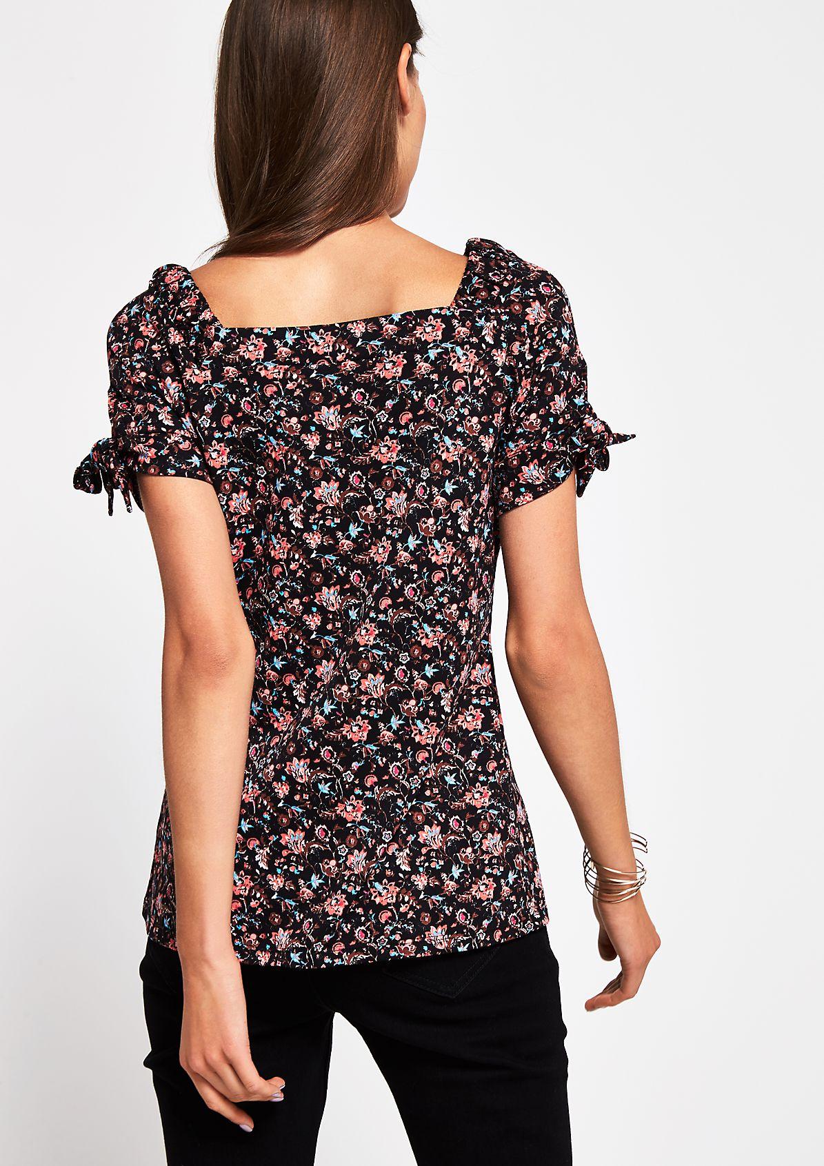 Jerseyshirt mit farbenfrohem Alloverprint
