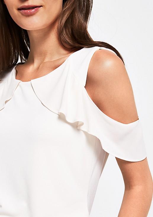 Elegantes Kurzarmshirt mit raffinierten Details