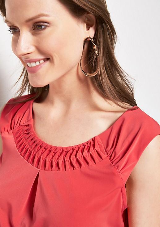 Jerseyshirt mit dekorativen Zierfalten