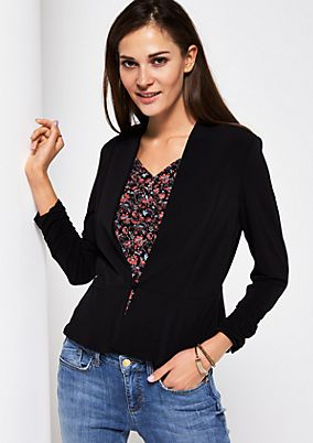 Jersey blazer with exciting details from comma
