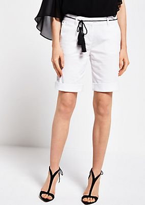 Summer shorts with a braided belt from comma