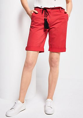 Summer shorts with a braided belt from s.Oliver