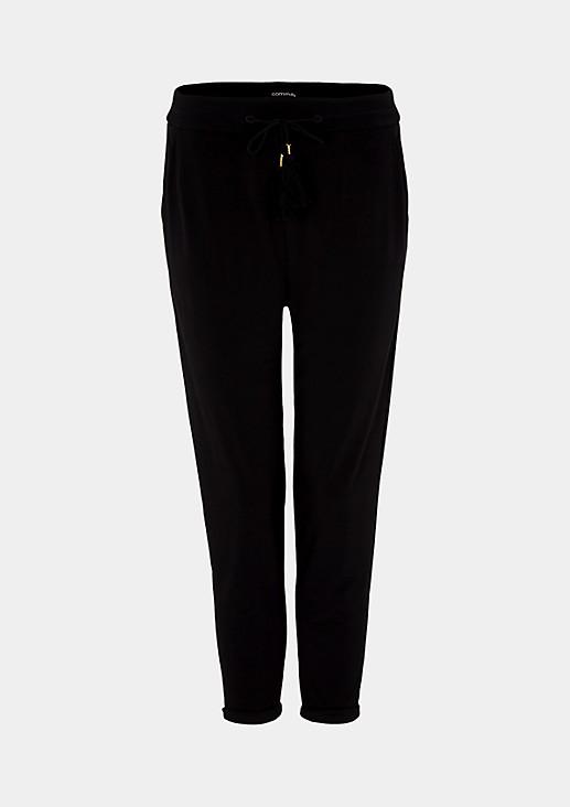 Leichte Jersey-Loungepants mit Bindebändern