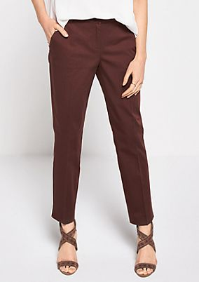 Elegant satin business trousers from s.Oliver