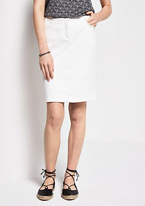 Short denim skirt with fine details from s.Oliver