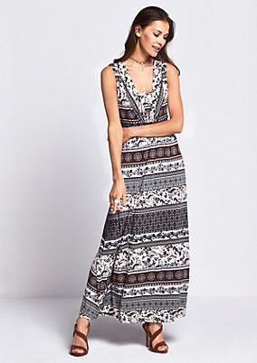 Summery maxi dress with an exciting all-over pattern from s.Oliver
