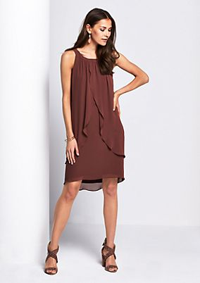 Elegant crêpe dress in a layered look from comma