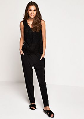 Jumpsuit with delicate lace from comma