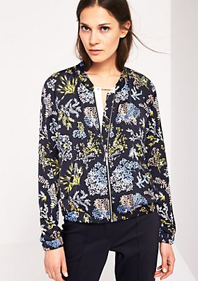 Lightweight bomber jacket with a colourful all-over print from s.Oliver