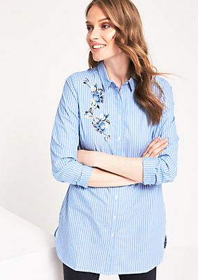 Classic shirt blouse with sophisticated embroidery from comma