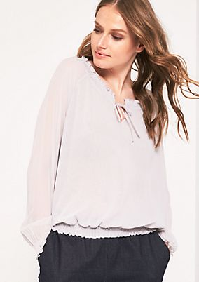 Delicate crêpe blouse with long sleeves from s.Oliver