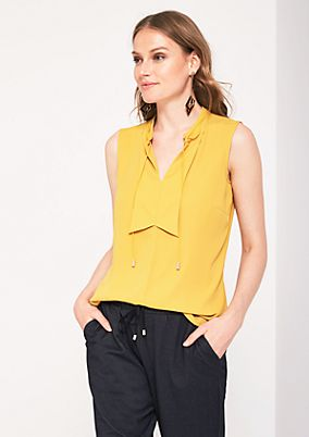 Delicate chiffon top with ties from s.Oliver