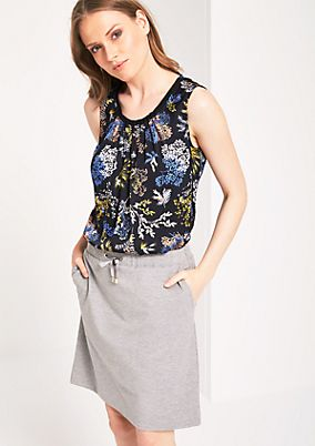 Satin top with a decorative all-over print from s.Oliver