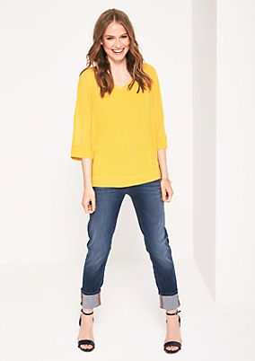 Delicate crêpe blouse with 3/4-length sleeves from comma