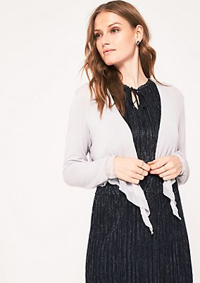 Lightweight bolero cardigan with long sleeves from s.Oliver