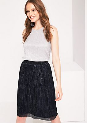 Pleated top with glittering effect yarn from comma