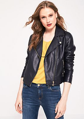 Rocker leather jacket in a biker style from s.Oliver