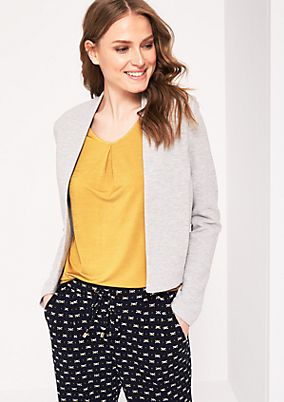 Short blazer with sophisticated details from s.Oliver