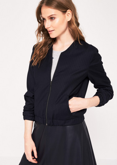 Cool bomber jacket with a pinstripe pattern from comma