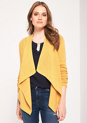 Casual cardigan with a shawl collar from s.Oliver