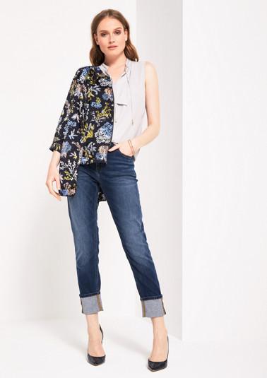 Skinny-Fit Jeans im dezenten Used-Look