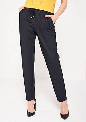 Sporty lounge trousers with ties from s.Oliver