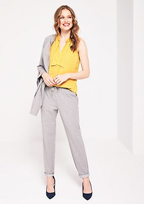 Sporty lounge trousers with ties from comma