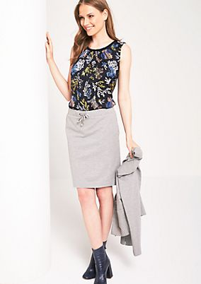 Sporty casual skirt with ties from comma