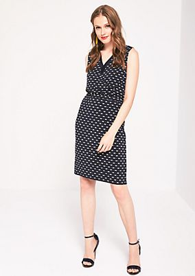 Casual, lightweight dress with a printed pattern from s.Oliver