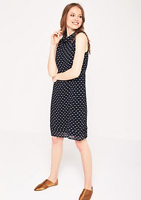 Lightweight crêpe dress with a minimalist pattern from comma