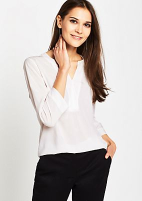 Elegant 3/4-sleeve blouse with a tonal pattern from s.Oliver