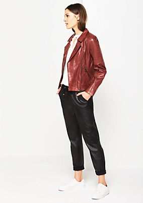 Leather jacket in a biker style from comma