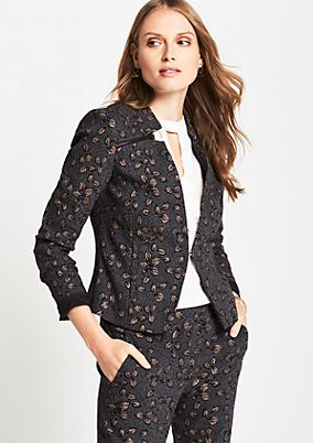 Extravagant blazer with an elaborate jacquard pattern from comma