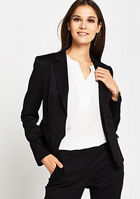 Elegant business blazer with a fine tonal pattern from s.Oliver
