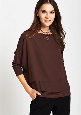 Extravaganter Pullover im Lagenlook